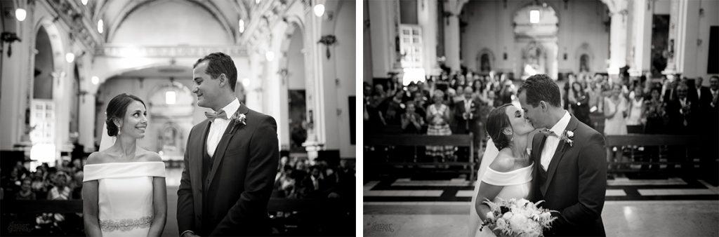 Fotos en blanco y negro de una ceremonia religiosa